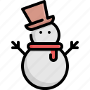 christmas, decoration, holiday, snow, snowman, winter, xmas icon