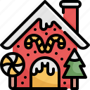 candy, christmas, home, house, store, sweet, xmas icon