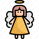 angel, celebration, christmas, holiday, vacation, winter, xmas icon