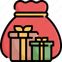 bag, box, gift, giftbox, giftboxes, santa icon