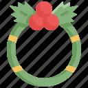 christmas, holiday, santa, snowflake, winter, wreath, xmas