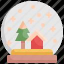 ball, christmas, globe, holiday, snow, winter, xmas