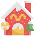 building, dessert, home, house, shop, store, sweet icon