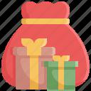 bag, box, boxes, christmas, gift, santa, xmas