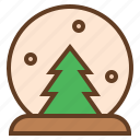 ball, fir, snow, tree icon