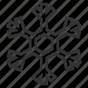 snowflake, snow, flake, winter