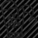 christmas, decoration, glove, mitten, snow, warm, winter