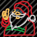 avatar, christmas, claus, father, santa, user, xmas