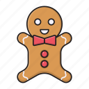 biscuit, cookies, doll, food, sweet icon
