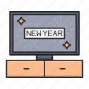 celebration, christmas, newyear, party, screen icon