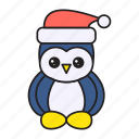 christmas, decoration, owl, party, snow icon