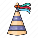 cap, celebration, christmas, hat, party icon