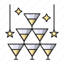 celebration, decoration, drink, party, wine icon
