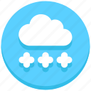 christmas, cloud, snow, weather, winter icon