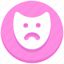anonymous, christmas, face, mask, sad icon