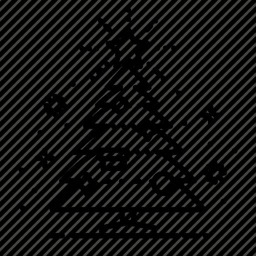 Celebration, christmas, decoration, holiday, star, tree, xmas icon - Download on Iconfinder