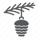 ball, spruce, christmas, branch, pine, cone, toy icon