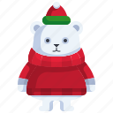 bear, grizzly, christmas, animal, wild