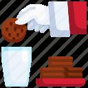 food, cookies, christmas, milk, breakfast
