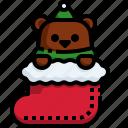bear, clothes, sock, christmas, fashion