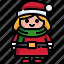 winter, hat, christmas, girl, woman
