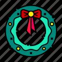christmas door wreaths, door, new year, christmas, holiday, decoration, wreaths icon