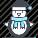 penguin, animal, winter