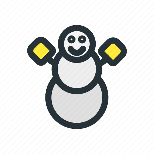 celebration, christmas, decoration, man, snow, snowman, xmas icon