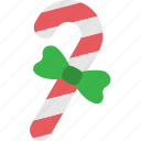 candy, cane, christmas, decoration, ribbon, stick, xmas icon