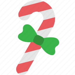 candy, cane, christmas, decoration, ribbon, stick, xmas icon