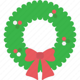 christmas, garland, greeting, wreath, xmas icon