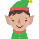 christmas, dwarfs, elf, holiday, santa, xmas icon