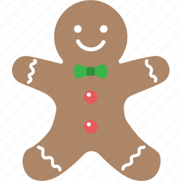 bread, christmas, cookie, gift, ginger, xmas icon