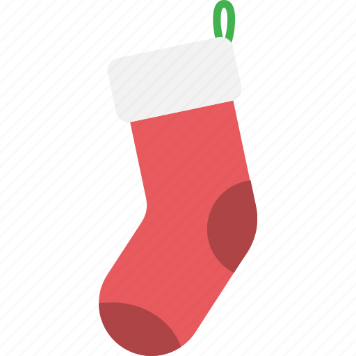 christmas, decoration, gift, present, sock, xmas icon