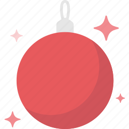 ball, christmas, decoration, shine, wink, xmas icon