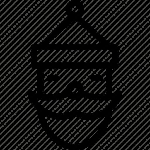 beard, cap, christmas, claus, creative, decoration, elderly, grid, line, mustache, saint-nicholas, santa, santa-claus, shape icon