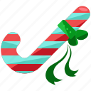 bow, candy, cane, christmas, holiday, season icon