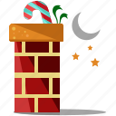 candy, cane, chimney, christmas, holiday, moon, season icon