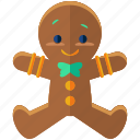 christmas, cookie, food, gingerbread, holiday, man, season icon