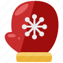 christmas, clothes, glove, holiday, season, winter icon