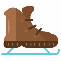 activity, christmas, clothes, ice, skates, sport, winter icon