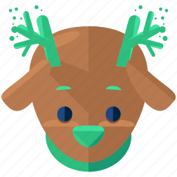 animal, christmas, holiday, reindeer, rheindeer, season icon