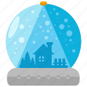 christmas, decor, decoration, globes, holiday, season, snow icon