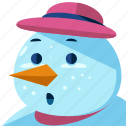 christmas, holiday, man, season, snow, snowman icon