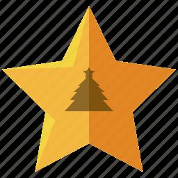 christmas, decoration, holiday, season, star, tree icon