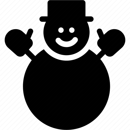 avatar, christmas, christmas-snowman, creative, decoration, grid, hat, play, shape, snow, snowman, winter icon