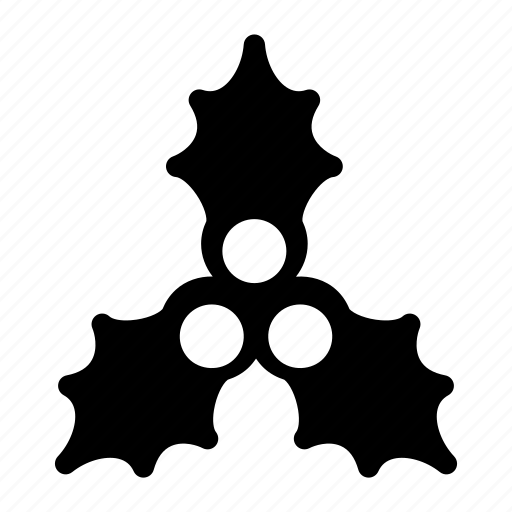 christmas-garland, creative, decoration, garland, grid, holly, shape, xmas icon