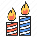birthday, candles, christmas, decoration, light icon