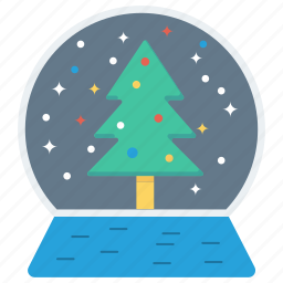 christmas, snow globe, winter, xmas icon