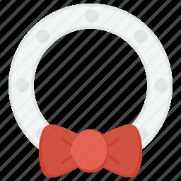 christmas, ornament, ribbon icon